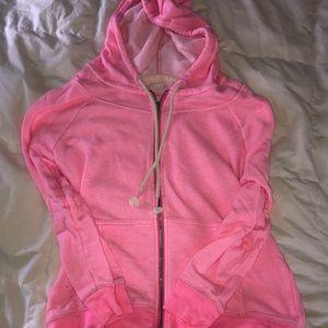 Aerie hot pink zip up